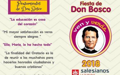 PROGRAMA DE FIESTAS – DON BOSCO'18