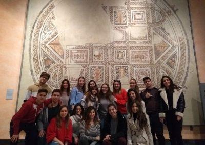 Visita al Museo Provincial. Mosaico romano encontrado en La Almunia de Doña Godina (1)