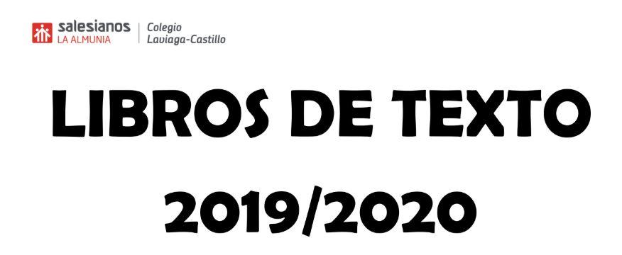 LIBROS DE TEXTO 2019-2020